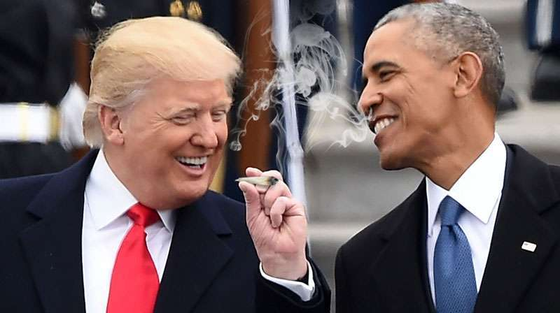 -	Trump and Obama could have a great time together smoking weed
