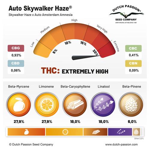 Auto Skywalker Haze terpenes and cannabinoids