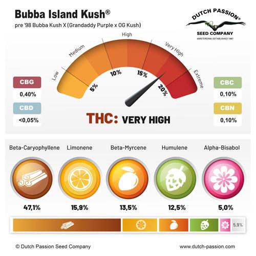 Bubba Island Kush Terpenes and cannabinoids