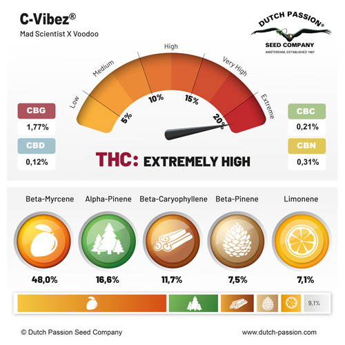 C-Vibez cannabinoids and terpenes