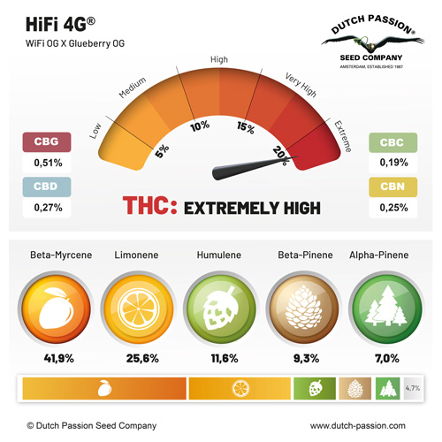 HiFi 4G terpenes and cannabinoids