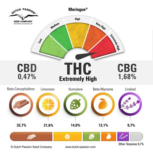 Meringue terpenes and cannabinoids