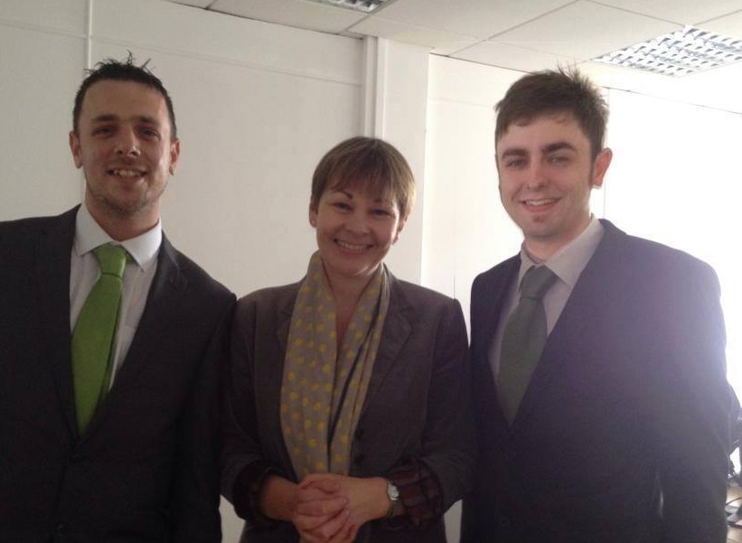 Keiron Reeves, Caroline Lucas MP and Clark French