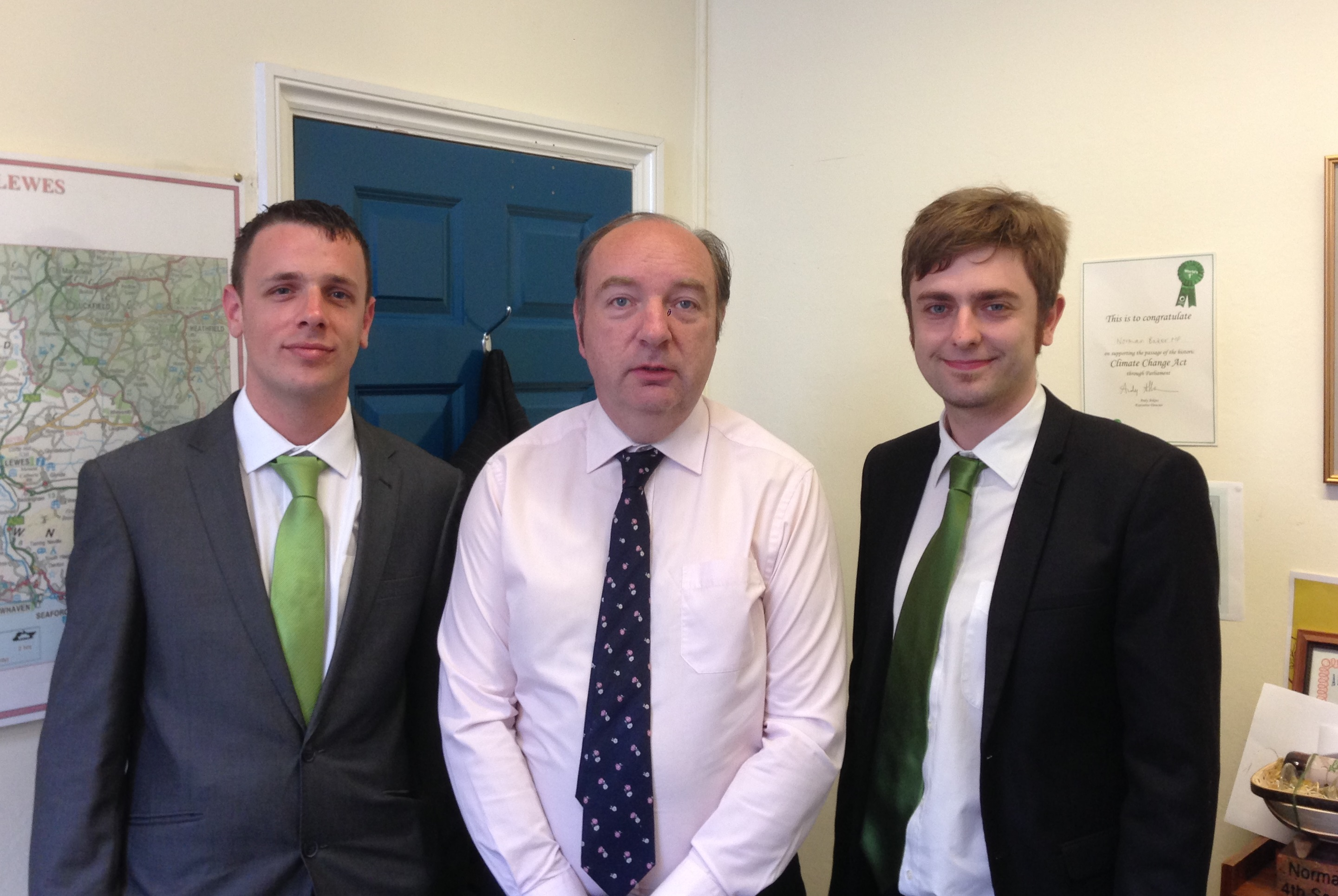 clark french, keiron reeves and norman baker MP