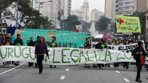 street protest in uruguay demanding their legal pot