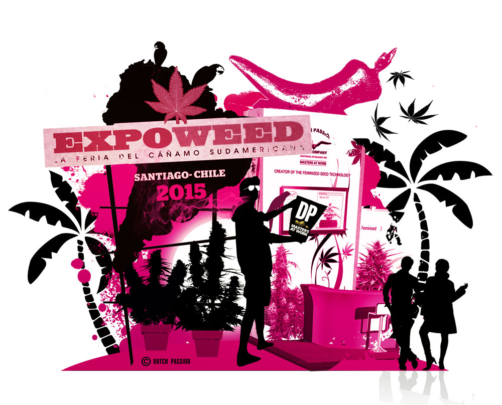 Expoweed 2015 Cannabis Fair.  Dutch Passion on tour in Chile