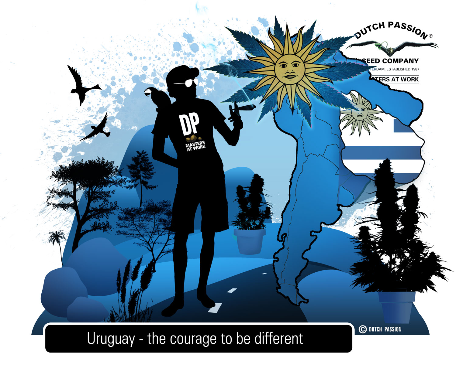 Uruguay.  The worldwide legalization of cannabis begins